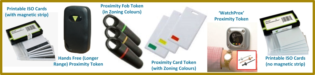 Paxton card tokens and fobs selection image
